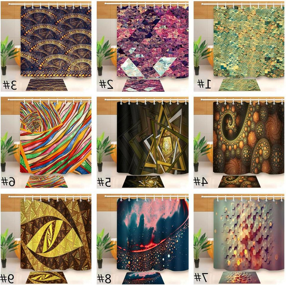 """72"""" Various Abstract Patterns Shower Curtain Bathroom Decor"""