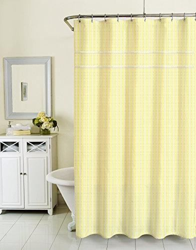 "Homewear Sunny Day, Seersucker Yellow Shower Curtain, 70"" x"