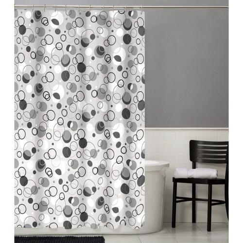 79090 ring toss peva shower curtain grey