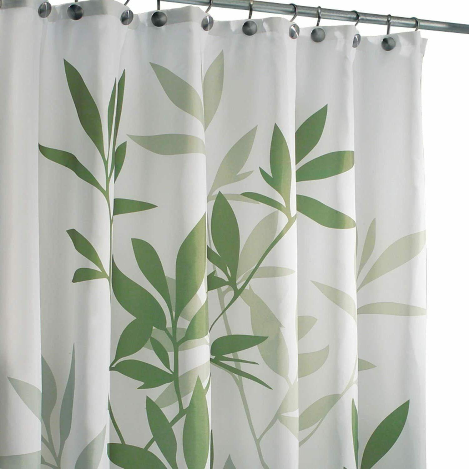 96-Inch Waterproof Long Shower Curtain Liner White