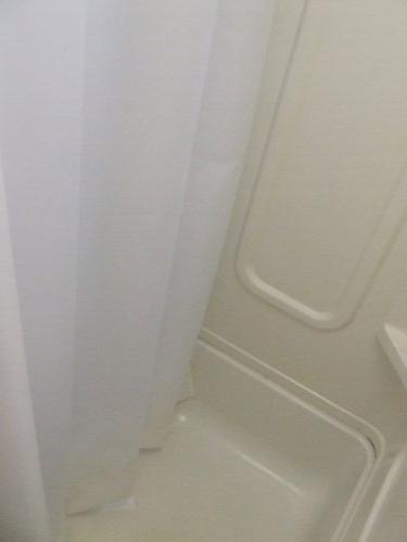 AB 47x64 RV Shower Shorter Narrower than shower curtain Off-white