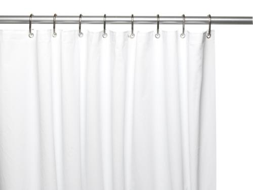 Carnation Home Fashions 10-Gauge PEVA 72 by 84-Inch Shower C