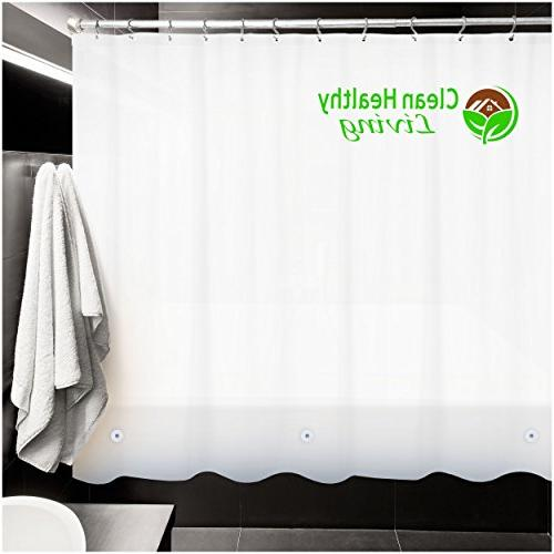 Clean Premium PEVA Liner with magnets to it in Mildew resistant, 70 x 71 in. long