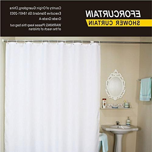 Eforcurtain Hotel Fabric Curtain and Free Curtains Pure White