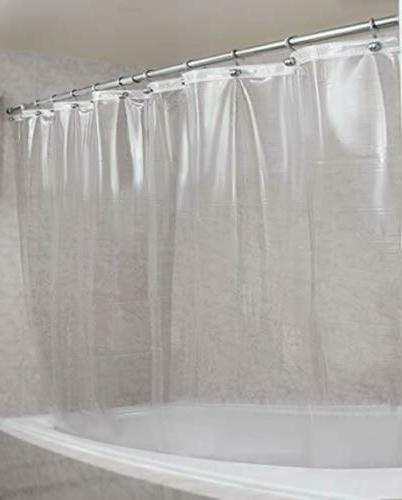 Shower Curtain Liner on the Market-100% Anti-Bacterial Gauge Liner-Waterproof-72x72 Inches-Clear