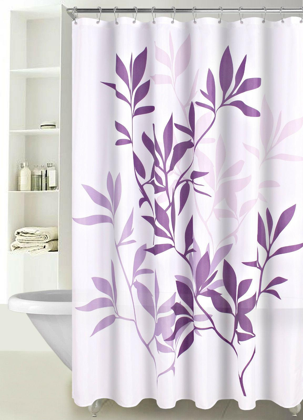 Fabric Shower Curtain Multicolor Forest Leaves with Reinforc