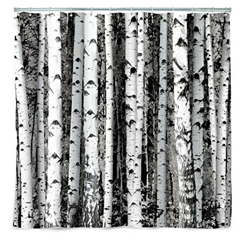 Kikkerland Shower Curtain, Polyester, Birch