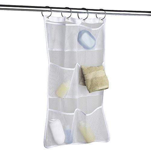 Maytex Quick Dry Mesh Pockets Fabric Bath / Shower Caddy Org