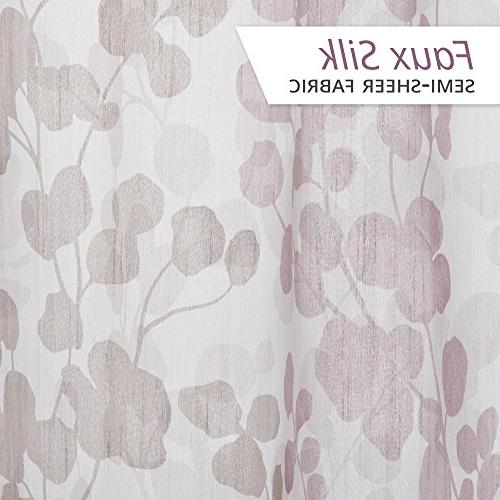 Maytex Sylvia Printed Silk Shower Purple