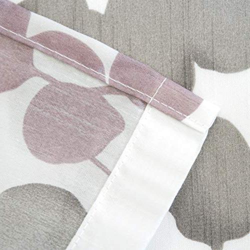 Maytex Sylvia Printed Silk Fabric Shower Purple