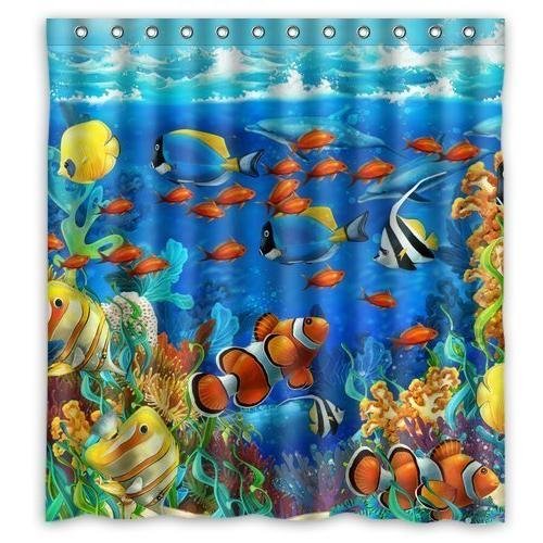 Winterby Custom Blue Ocean Tropical Fish Coral Undersea Worl