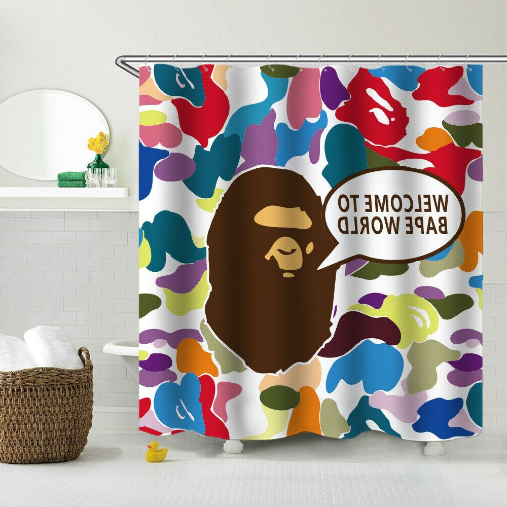 A Bathing Shower Curtain Fabric Bath Curtain