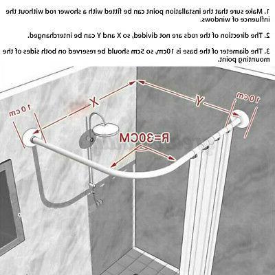 Adjustable Stainless Shower Rod Bathroom