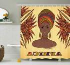 African Shower Curtain Turban Palms Cultural Print for Bathr