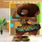 Afro-Hair-African-Girl Shower Curtain for Bathroom 180Cm Bat