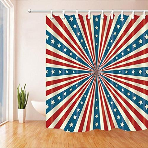 american flag series shower curtain