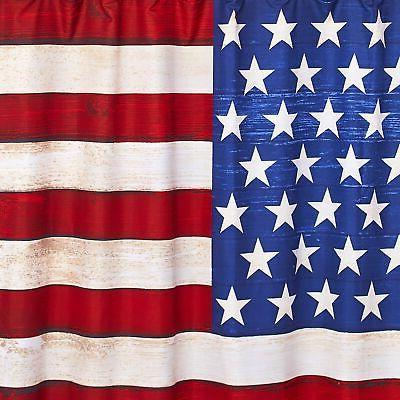 American Flag Shower - Patriotic Bathroom