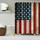 American Flag Starry sky Waterproof Shower Curtain Bathroom
