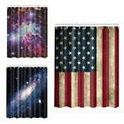 American Flag Starry Waterproof Shower Curtain Bathroom Curt