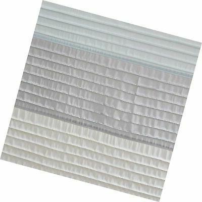 Madison Aqua Curtain,Pieced Simple Sh...