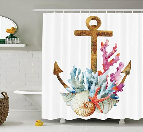anchor shower curtain set home