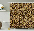 Ambesonne Animal Leopard Pattern Shower Curtain Set