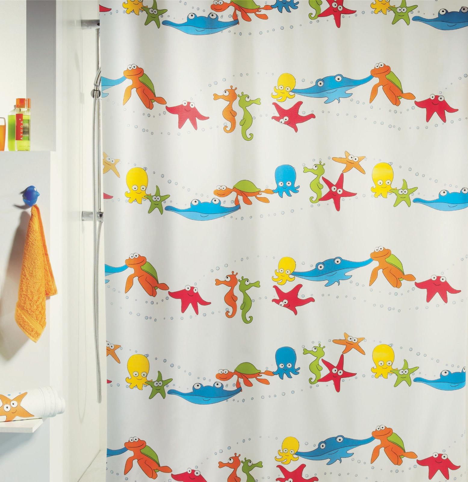 Spirella AQUARIUM MULTICOLOUR Textile Polyester SHOWER CURTA
