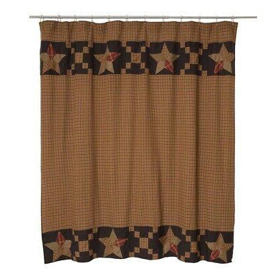arlington patchwork star bathroom shower curtain by