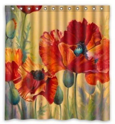artsadd red poppy passion waterproof