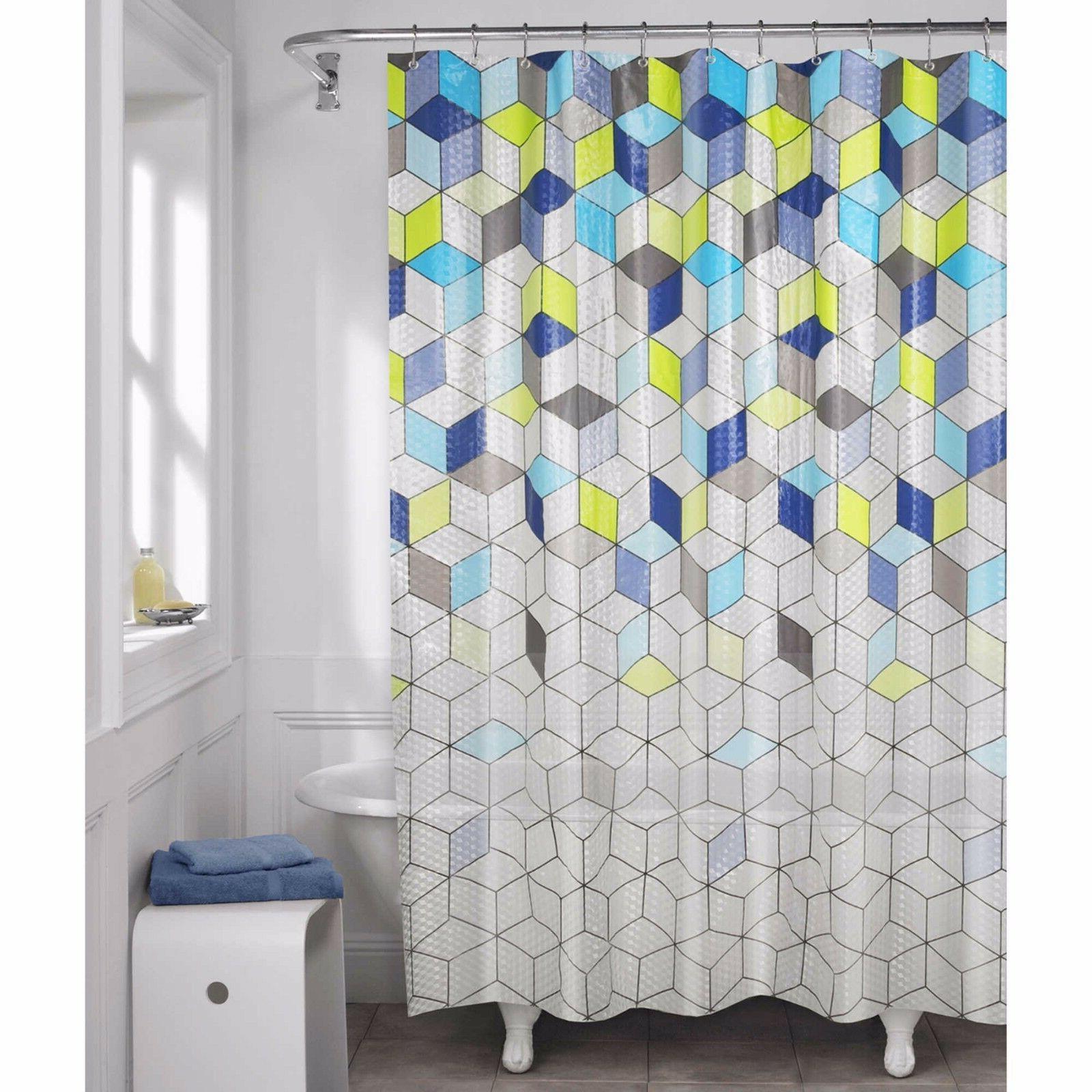 aspect geo lenticular peva shower curtain