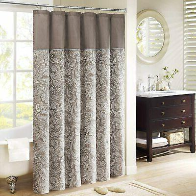 "Madison Park Aubrey Shower Curtain Bathroom Decorations, 72"""
