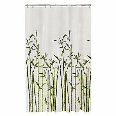 bamboo photoreal peva shower curtain