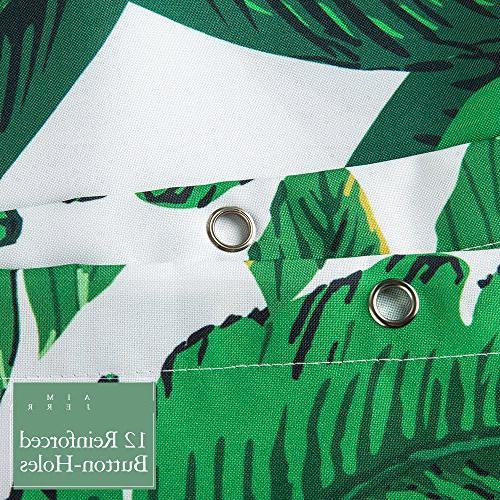 Tropical Plants Banana Green Fabric 72 x 72