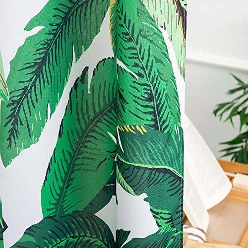 Tropical Green Shower Waterproof Mildew 72 x 72
