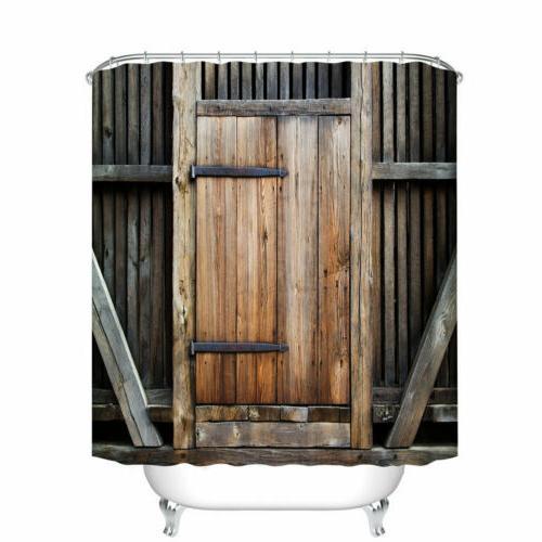 Barn Curtain Decor Set Design Bath Curtains 12 Hooks