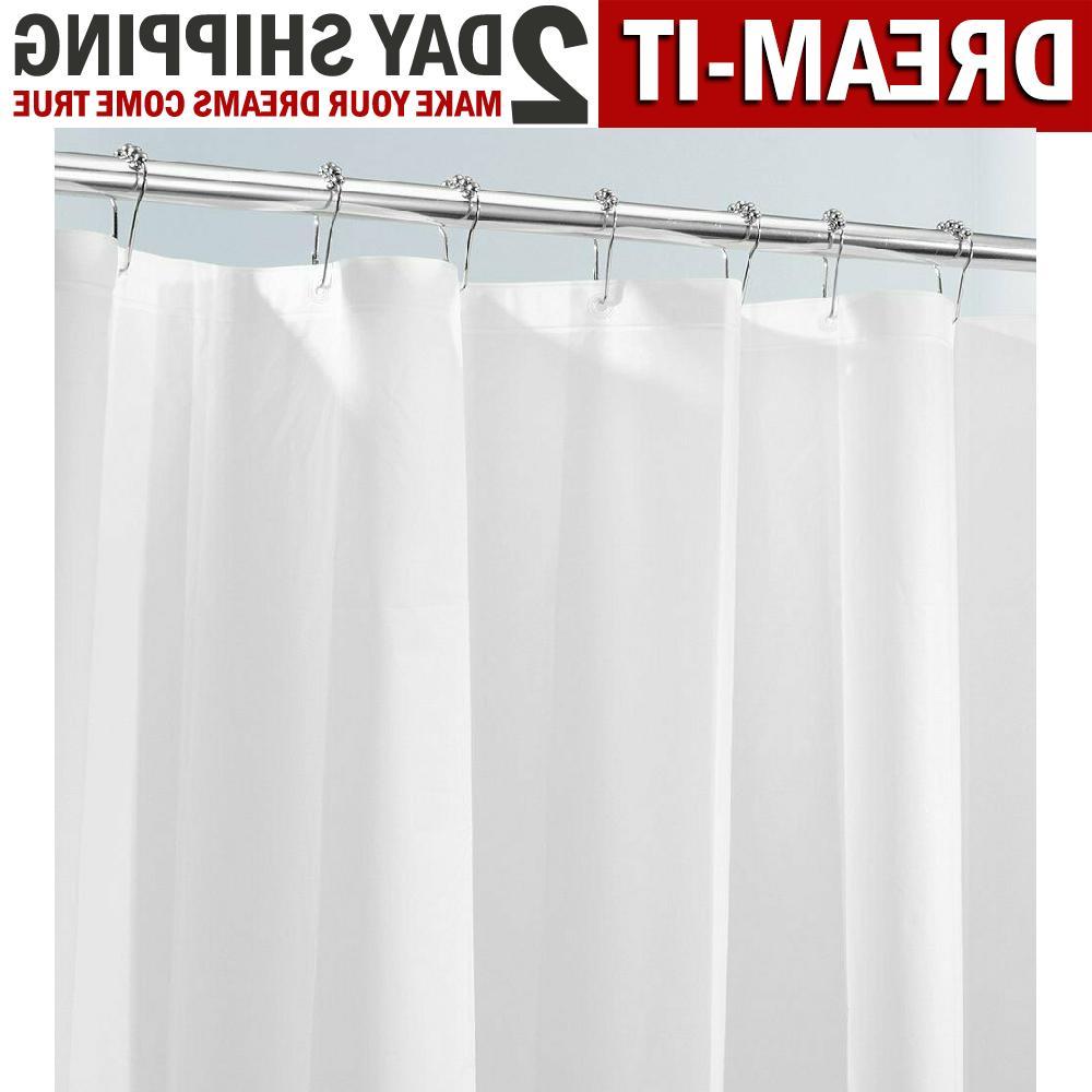 Bath Shower Curtain Liner Mold Mildew Resistant Bathroom Wat