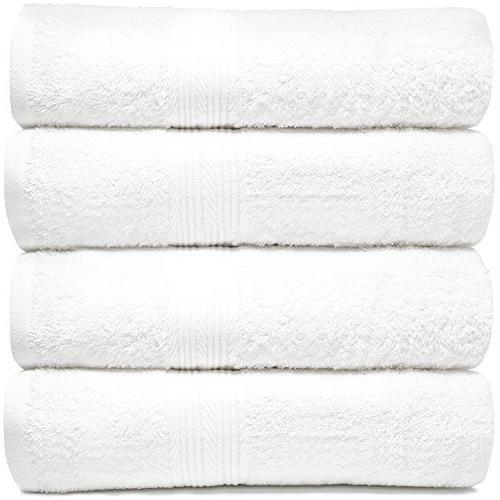 bath towels set cotton white