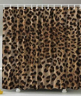Bathroom Accessories Leopard Print Sexy Shower Curtain by Am