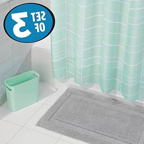 bathroom accessory set striped fabric
