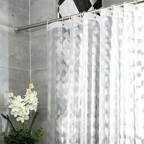 bathroom eva shower curtain 3d translucent thick