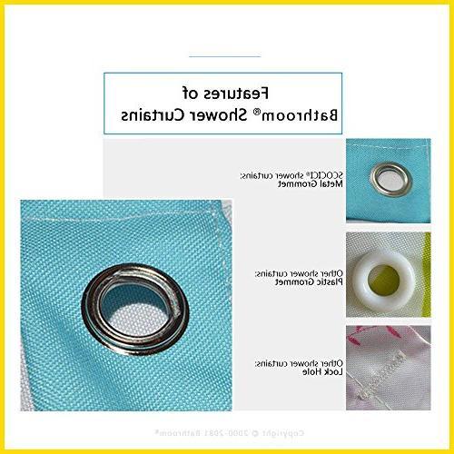 UHOO2018 Bathroom Bath Blue Mold Resistant Fabric