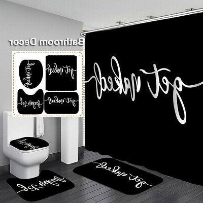 bathroom shower curtain set get naked black
