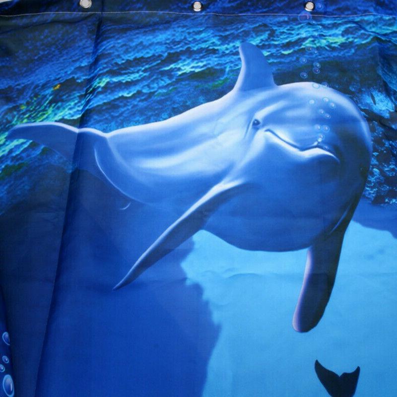 Blue Dolphin Deep Sea Bathroom Waterproof New US