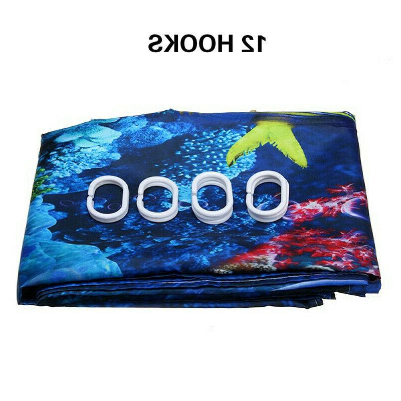 Blue Sea Shower Curtain Waterproof US