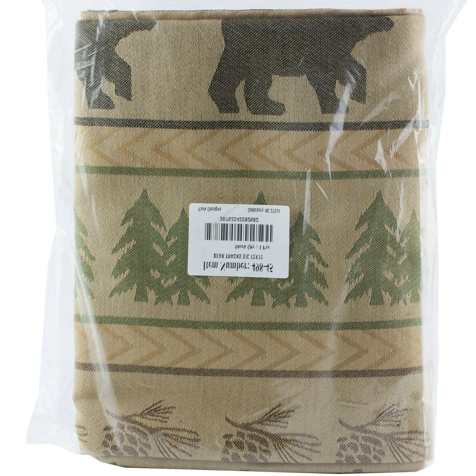 Park Designs Bear Tracks Shower Curtain, 72 x 72