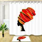 Beautiful African Woman Shower Curtains for Bathroom Waterpr
