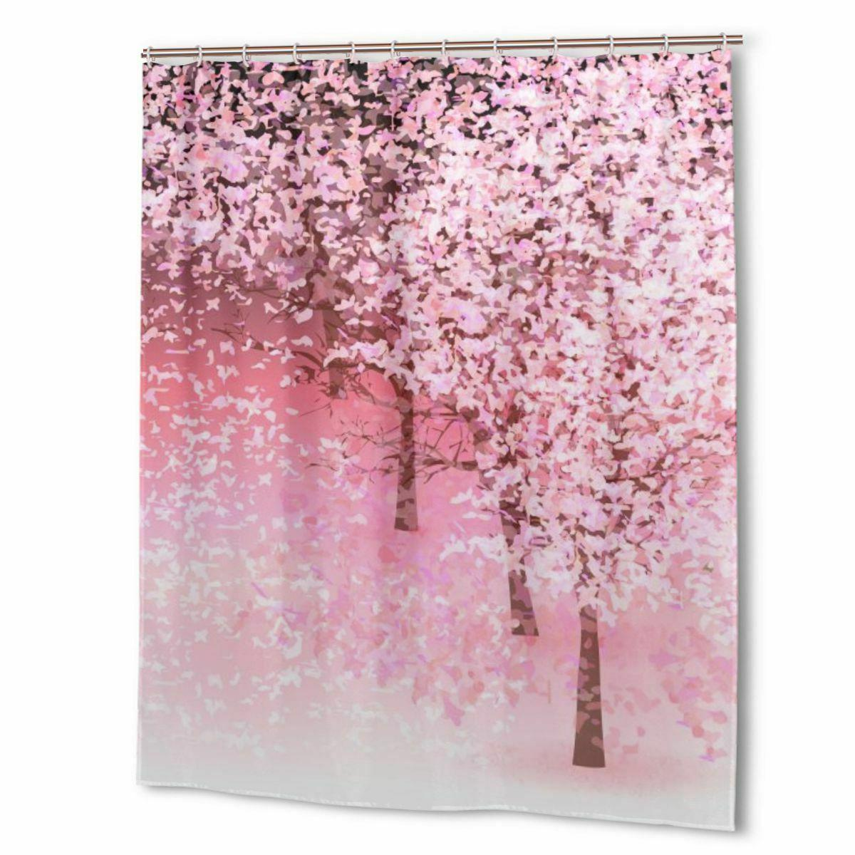 Small Flowers Floral Waterproof Bathroom Shower Curtain with