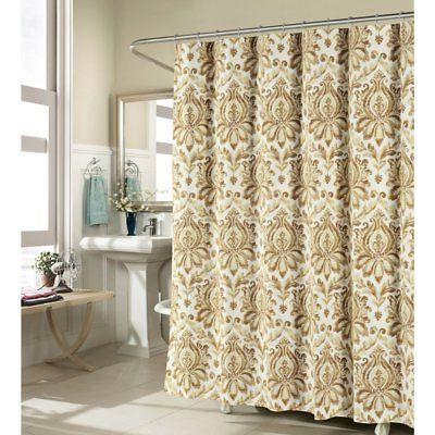 Creative Home Ideas Biltmore Luxury Fabric Shower Curtain