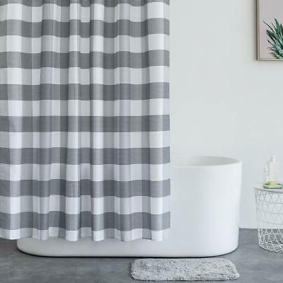 Aimjerry Black White Fabric Shower Bathroom,Washable STALL Size