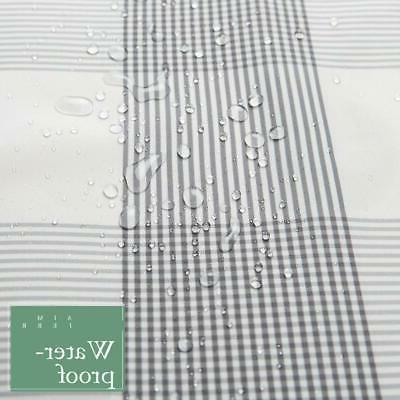 Aimjerry Black Fabric Curtain for Bathroom,Washable Size
